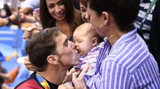 Phelps, con su hijo Boomer
