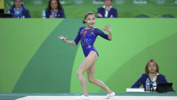 Shang Chunsong durante la final en la que quedó cuarta