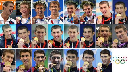 Los 23 oros del nadador americano