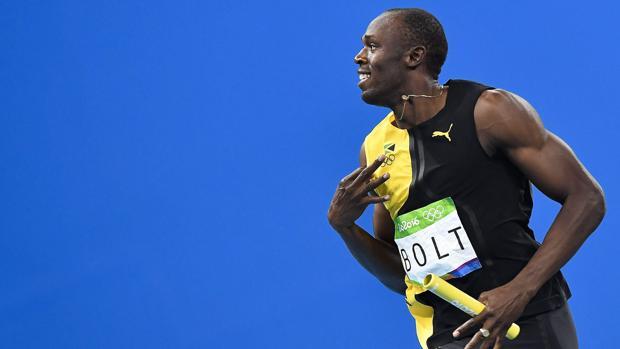 Usain Bolt, tras la final de relevos del 4x100