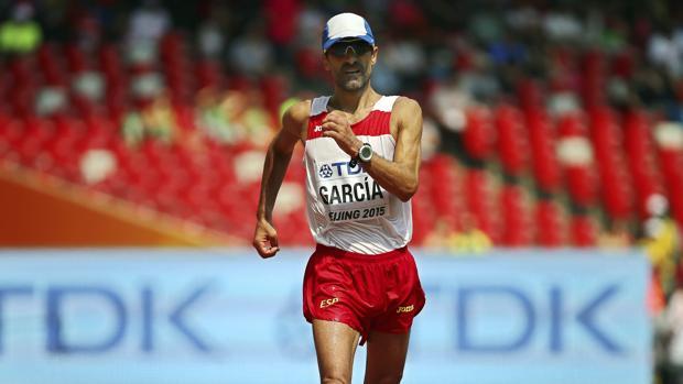 García Bragado, durante su participación en los 50 kilómetros marcha en los Juegos de Río