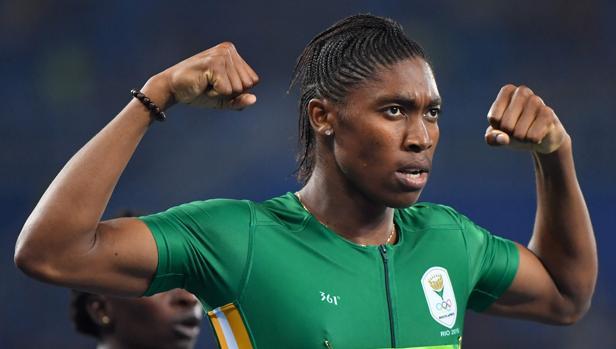 Caster Semenya, tras vencer la final de los 800 metros