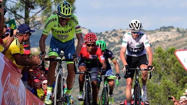 COntador, Froome y Quintana, actual podio de la Vuelta