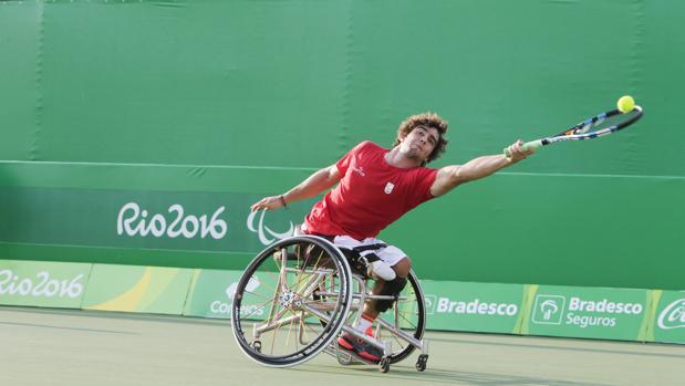 Daniel Caverzaschi, en el partido ante Houdet en Río
