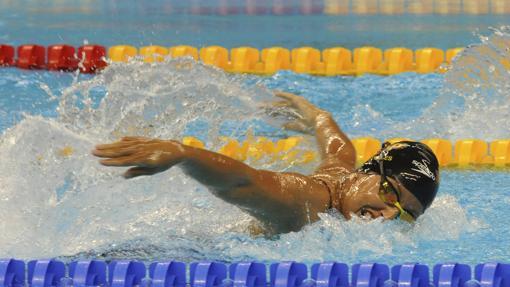 Teresa Perales nada en los Juegos Paralímpicos de Río 2016
