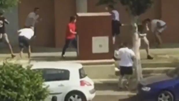 Enfrentamiento entre radicales del Almería y el Levante