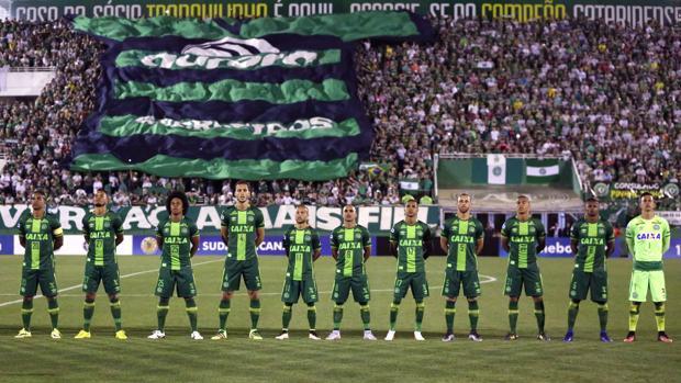 Imagen del Chapecoense antes del partido de la Copa Sudamericana 2016 disputado contra el San Lorenzo