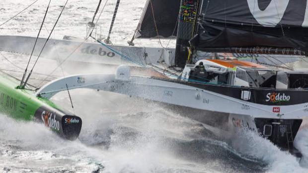 """Nuevo récord de Thomas Coville en el Pacifico con el """"Sodebo Ultim"""""""