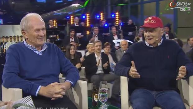 Helmut Marko y Niki Lauda, en el programa Sport Talk