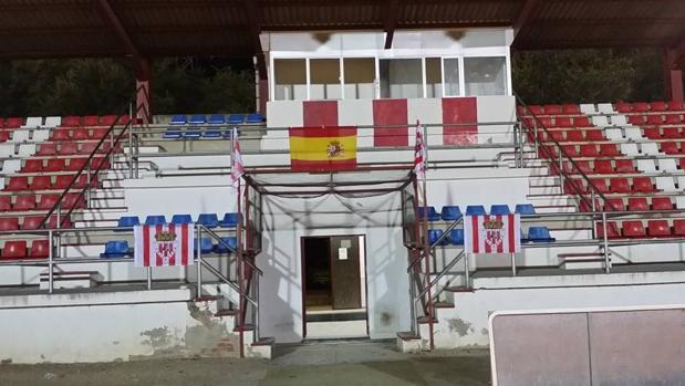 Estadio Municipal de Valdemoro, donde jugaba sus partidos el equipo rojiblanco