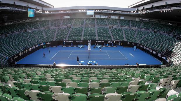 Imagen de la pista Rod Laver, la central de Melbourne