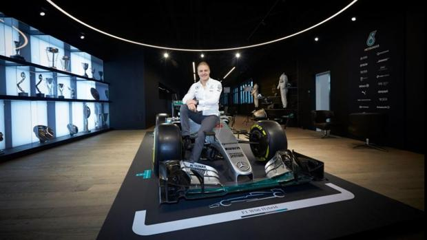 Valtteri Bottas, en su primera imagen como piloto de Mercedes