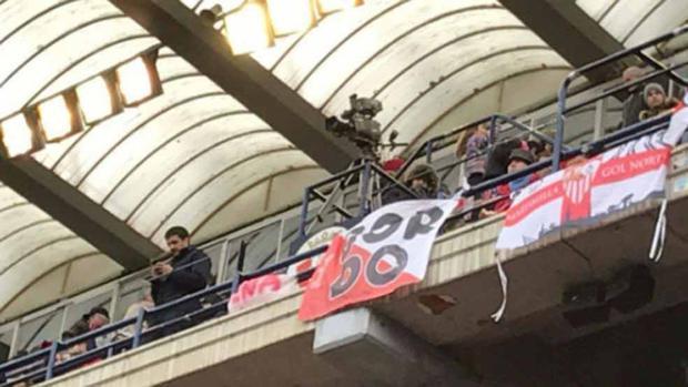 Osasuna-Sevilla: La Policía investigará una supuesta pancarta de apoyo al «Prenda» exhibida por los Biris en El Sadar