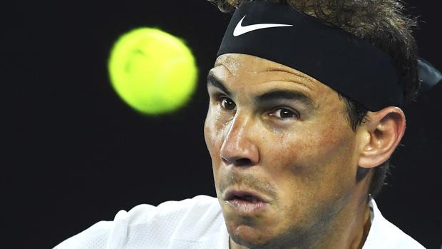 Rafael Nadal, durante su partido contra Raonic en Australia