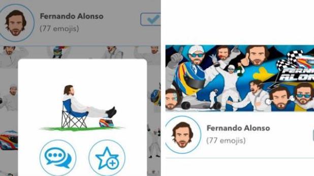 Fernando Alonso lanza su colección de emojis