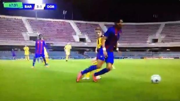 El golazo de un juvenil del Barcelona que da la vuelta al mundo