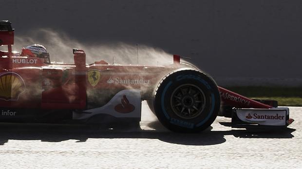 Ferrari, el más rápido en una jornada con tiempos lentos