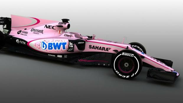 Mundial Fórmula 1 2017:  El Force India será rosa