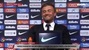 La reacción de Luis Enrique al ver a un periodista dormido en su rueda de prensa