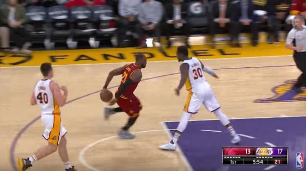 NBA:  Cuando LeBron hace fácil lo difícil