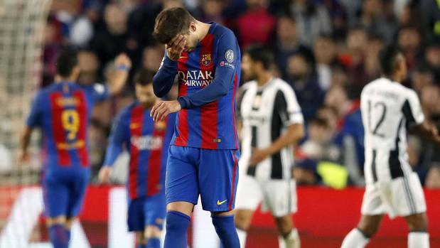 Gerard Piqué, tras caer con la Juventus
