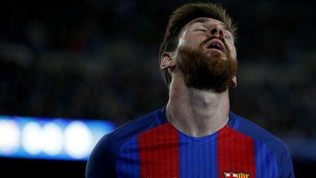 Leo Messi durante el partido entre el Barcelona y la Juventus