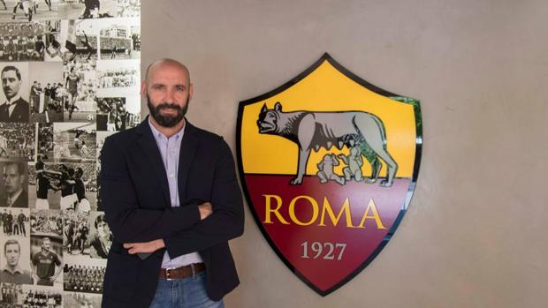 Monchi, en su primera imagen como director deportivo de la Roma