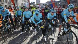 El emotivo homenaje del Astana a Scarponi