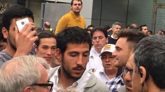 Dani Parejo, en los alrededores del Santiago Bernabéu.