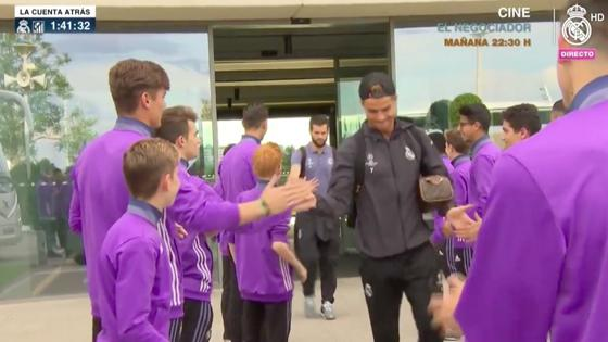 Cristiano, despedido por los canteranos del Real Madrid