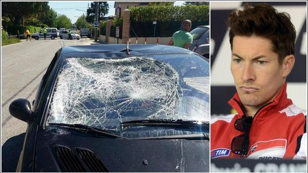 Estado del vehículo que atropelló a Nicky Hayden