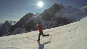 Kilian Jornet, en el Mont Blanc