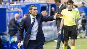 Ernesto Valverde, en un partido de Liga con el Athletic