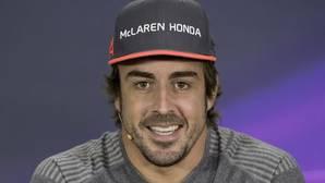 El asturiano Fernando Alonso, durante el encuentro con los medios en Canadá