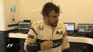 Fernando Alonso, tras su abandono en Silverstone