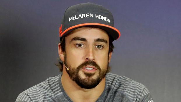 Fernando Alonso en una rueda de prensa