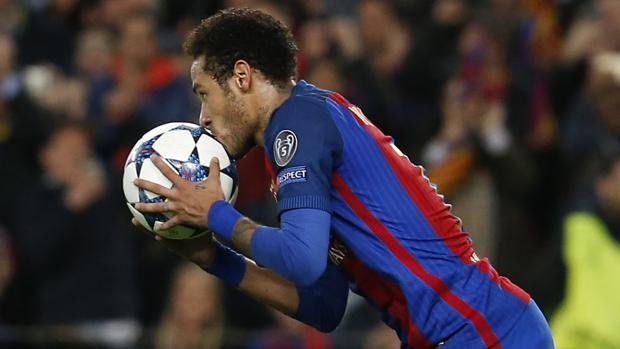 Neymar, en un partido con el Barcelona