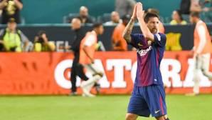Messi, durante la pretemporada del Barcelona