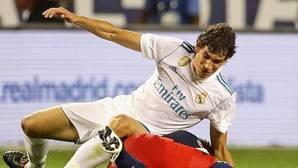 Jesús Vallejo, durante un partido en la pretemporada