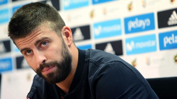 El jugador del Barcelona en rueda de prensa