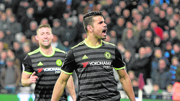 Diego Costa, en un partido con el Chelsea