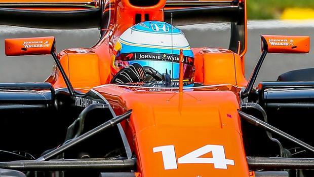 Fernando Alonso, al volante del McLaren-Honda