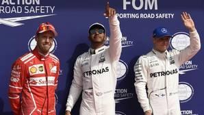 Hamilton, feliz en el podio