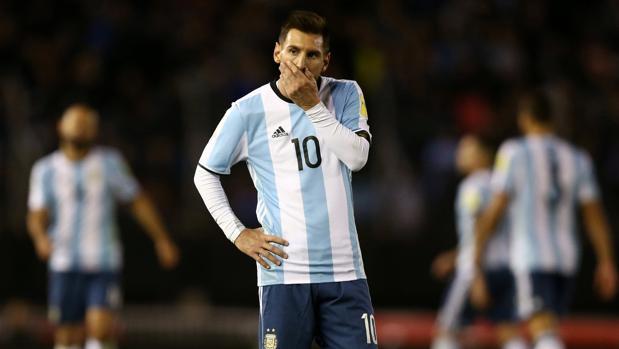 Leo Messi, durante el partido ante Venezuela disputado en Buenos Aires