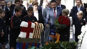 El Barcelona participó en la ofrenda floral con motivo de la Diada de Cataluña