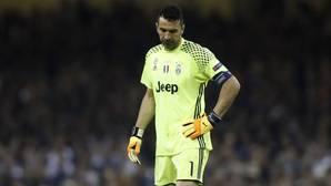 Gianluigi Buffon durante un partido de la Juventus