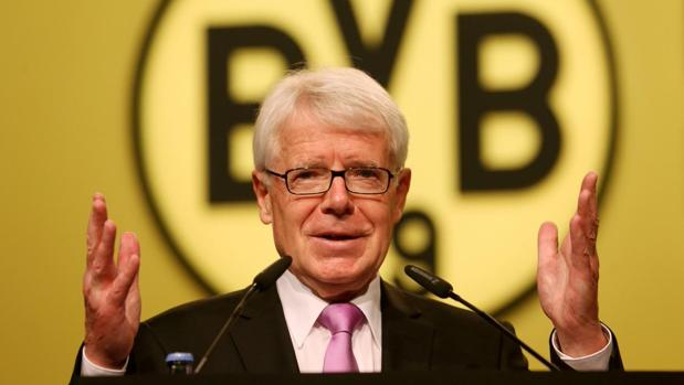 Reinhard Rauball, presidente de la Liga Alemana de Fútbol y del BVB