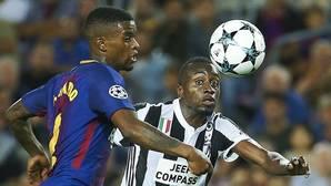 Nelson Semedo durante una acción defensiva en el partido del Barcelona ante la Juventus