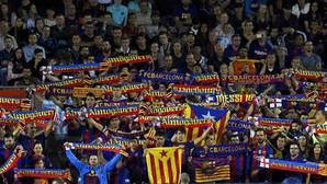 Grada del Camp Nou durante el partido contra el Español