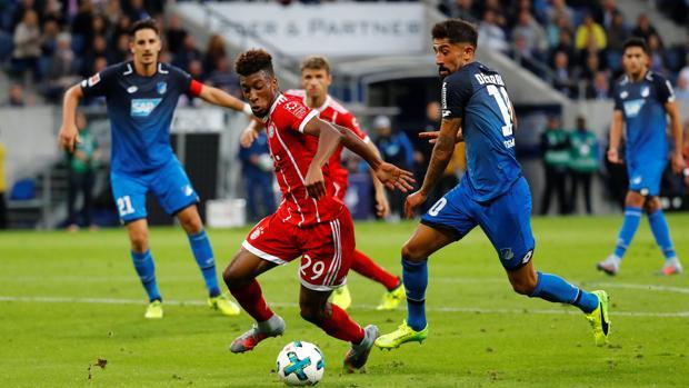 El jugador durante el partido del Bayern Múnich frente al Hoffenheim